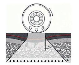 Pokládka nové asfaltové směsi na samolepící pás AUTOTENE PK