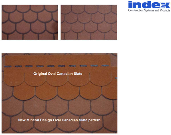 Original oval canadian slate